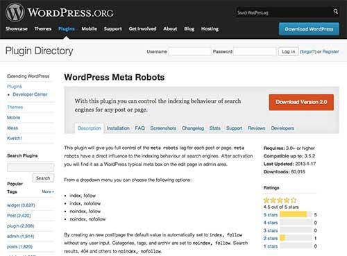 wordpress-meta-robots